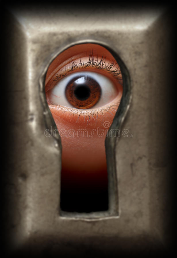 oka keyhole obrazy stock