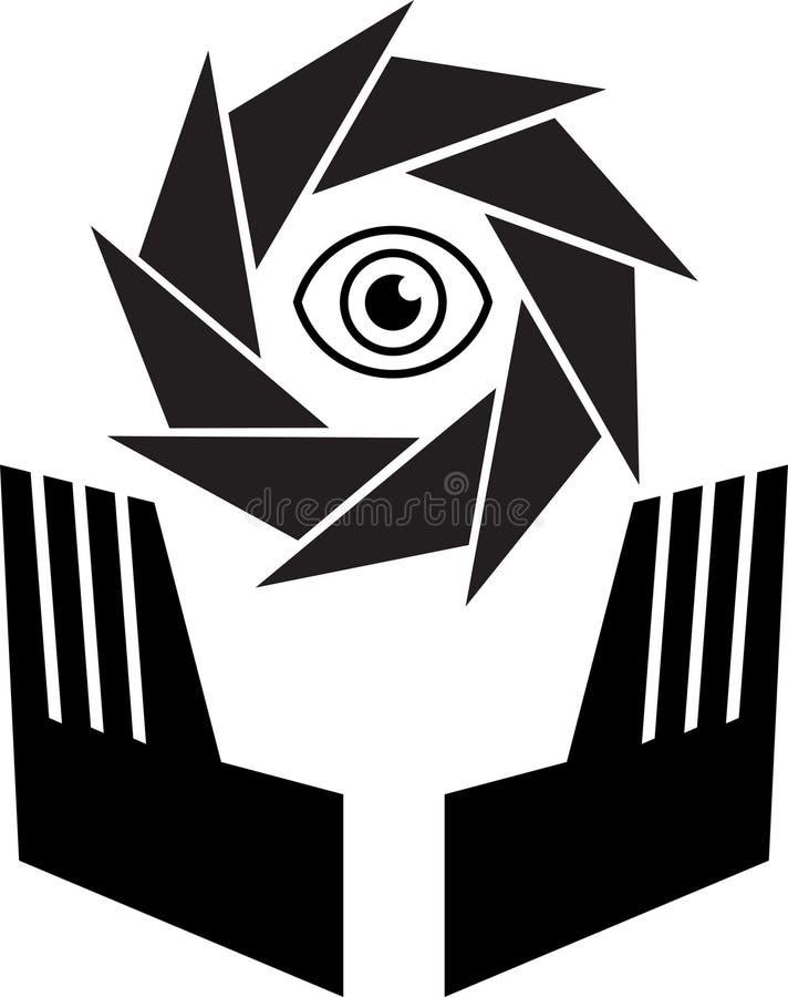 oka loga skrytka ilustracja wektor