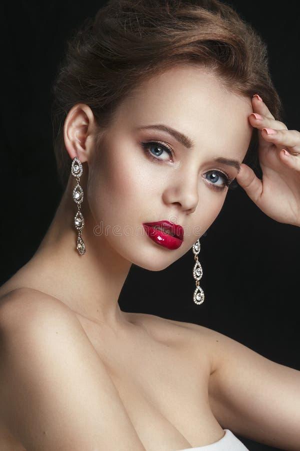 Oka Makeup Pięknych oczu retro stylowy makijaż Wakacyjny Makeup obraz royalty free