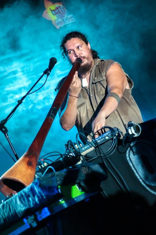OKA outstanding performance in Bali Spirit Festiva royalty free stock image