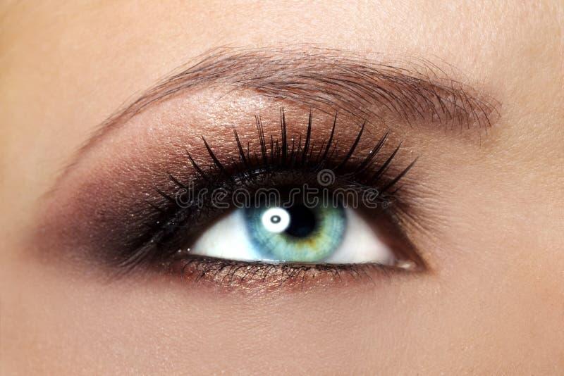 Oka piękny żeński Makeup zdjęcia stock
