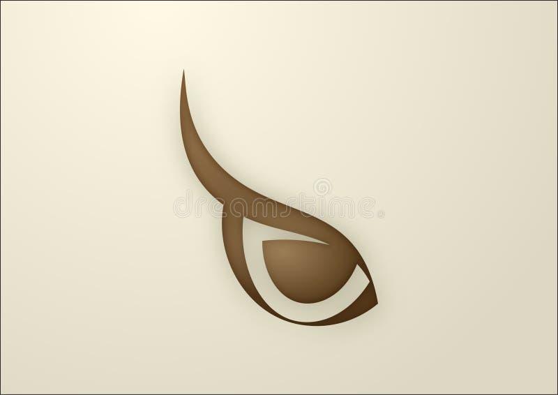 Download Oka sowy wektor ilustracja wektor. Obraz złożonej z wyznaczający - 10831085