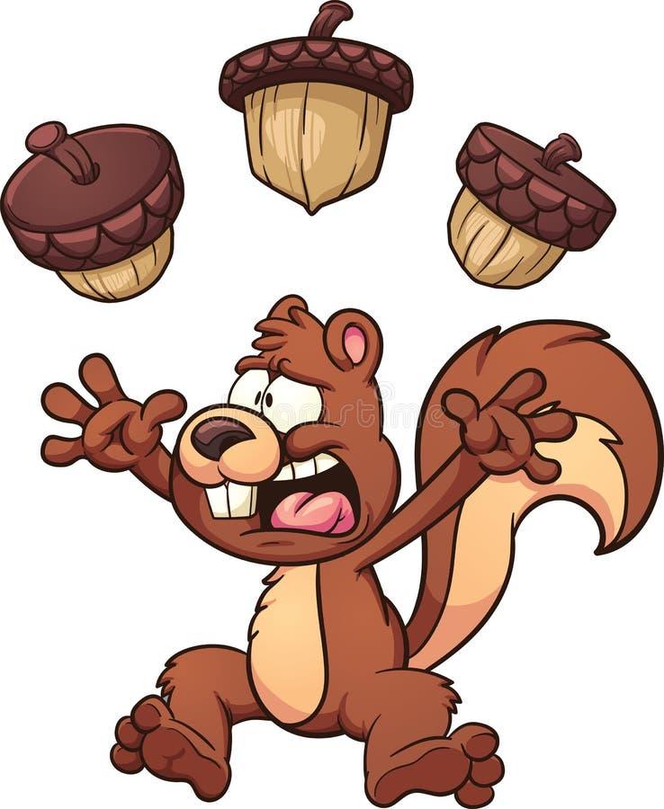 okaleczająca wiewiórka ilustracja wektor