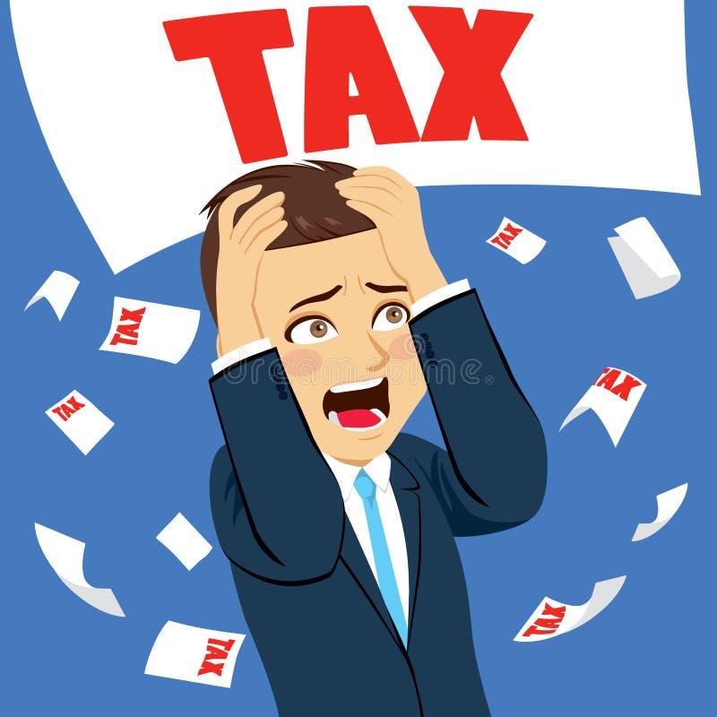 Okaleczający biznesmena podatek ilustracji