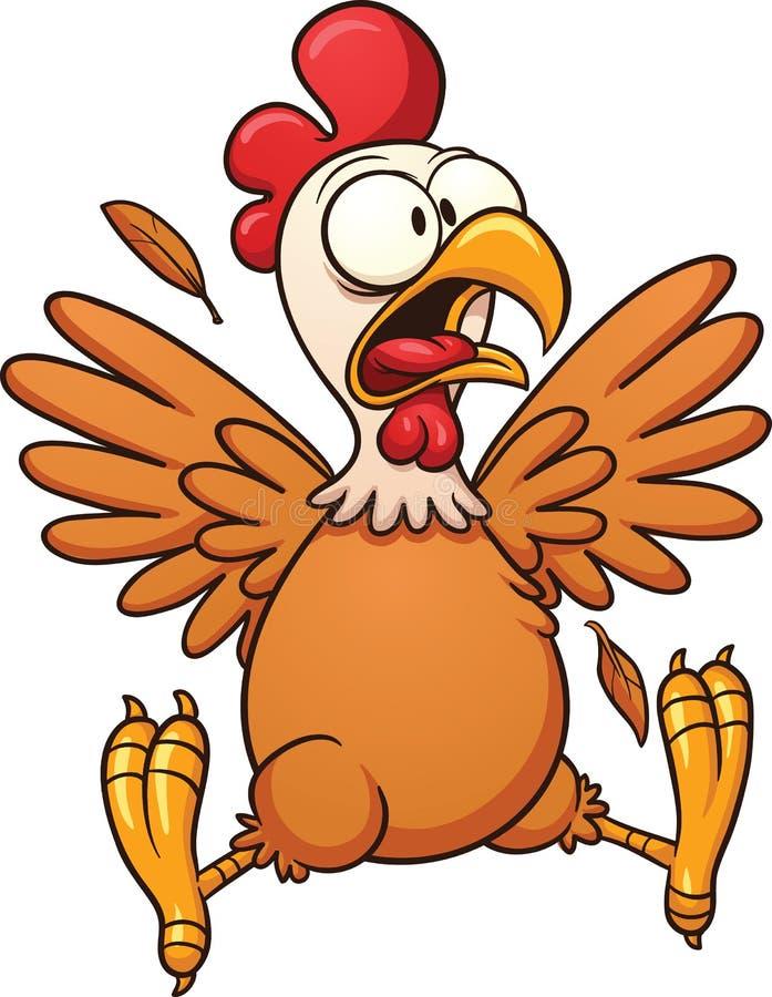 Okaleczający kreskówka kurczak royalty ilustracja