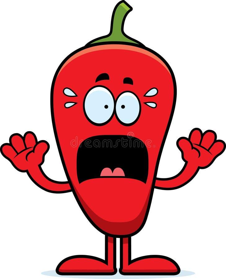 Okaleczający kreskówki Chili pieprz ilustracji