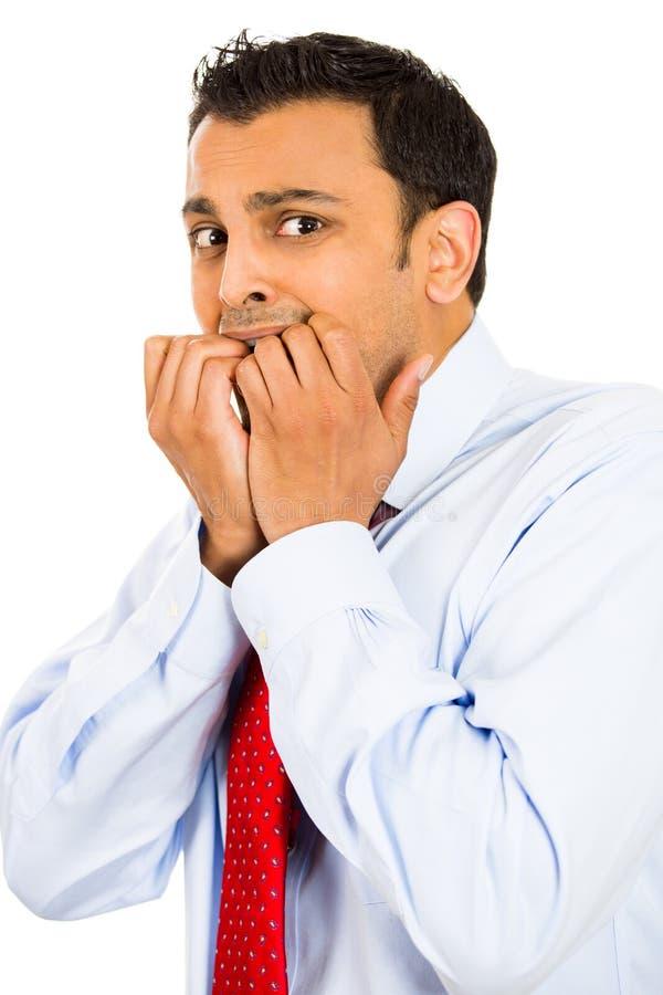 Okaleczający mężczyzna zdjęcie royalty free