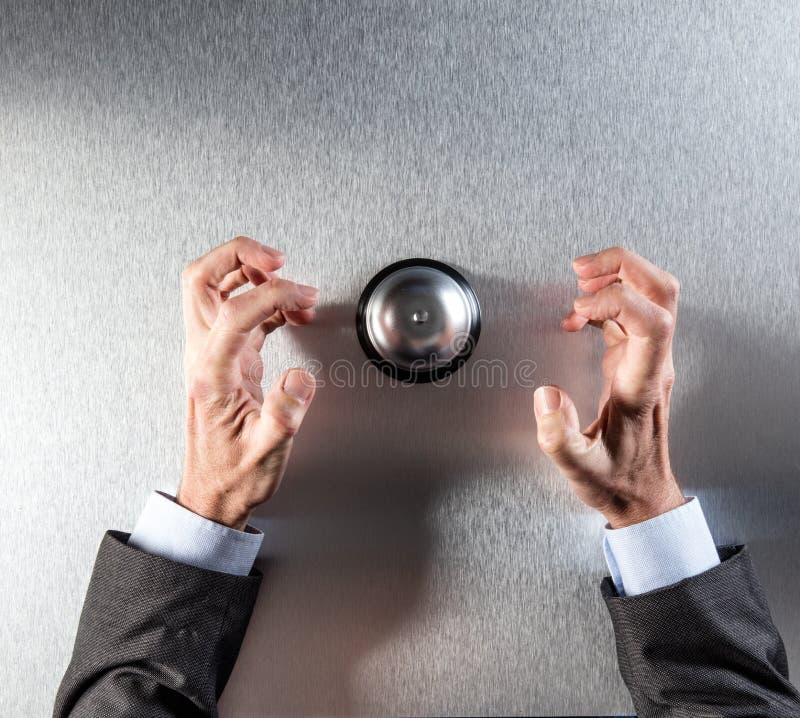 Okaleczający ręka gest denerwujący klient pomocą niecierpliwy biznesmen zdjęcie royalty free