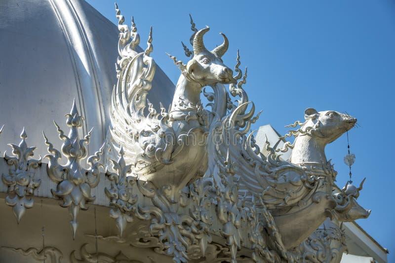 okapy biała świątynia obraz stock