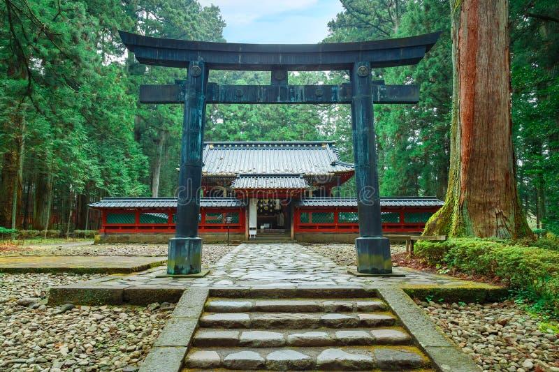 Okariden - tillfällig relikskrin på den Nikko världsarvet i Nikko, Japan arkivbild