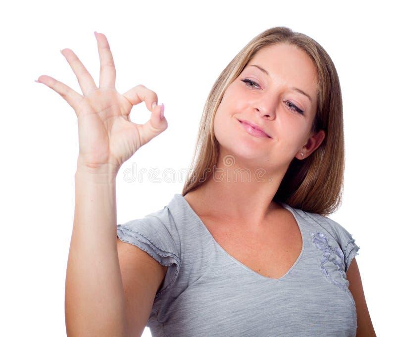 Okay gesture stock image
