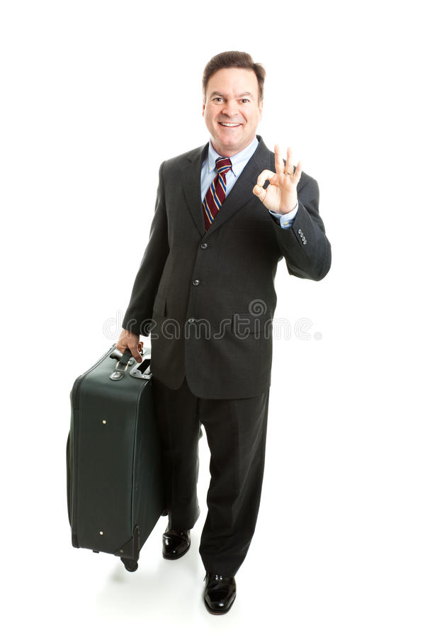 Download A-Okay Sign From Business Traveler Stock Image - Image: 25698527