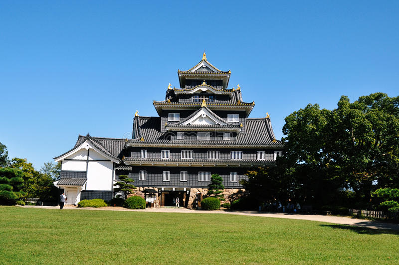 Okayama Castle. During early autumn. (Japan royalty free stock photography