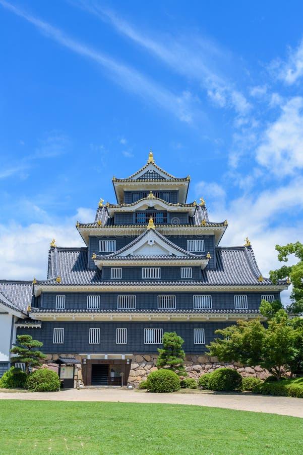 Okayama kasztel lub wrona kasztel obraz stock