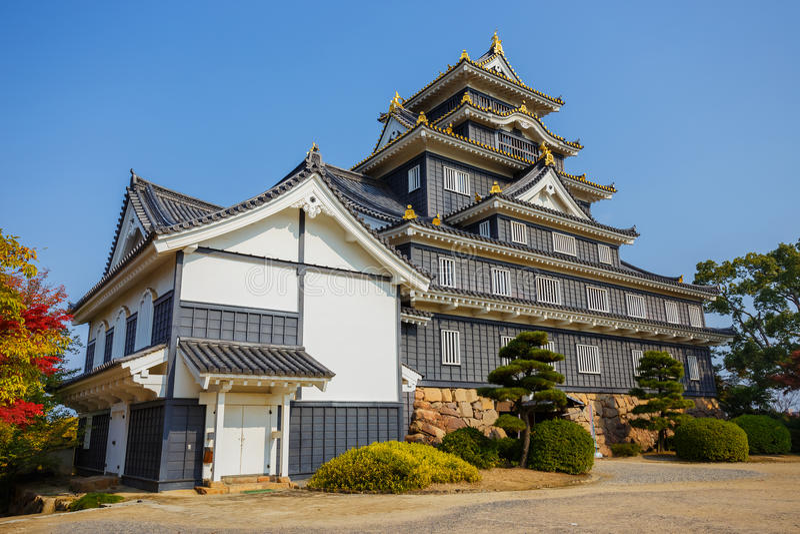 Okayama kasztel lub wrona kasztel w Okayama obraz royalty free