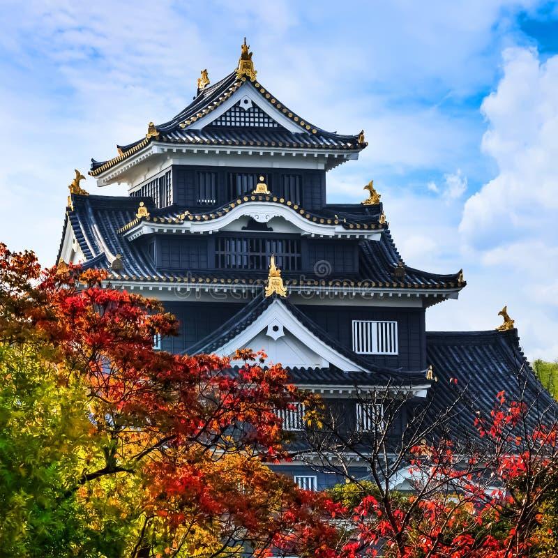 Okayama kasztel lub wrona kasztel w Okayama obraz stock