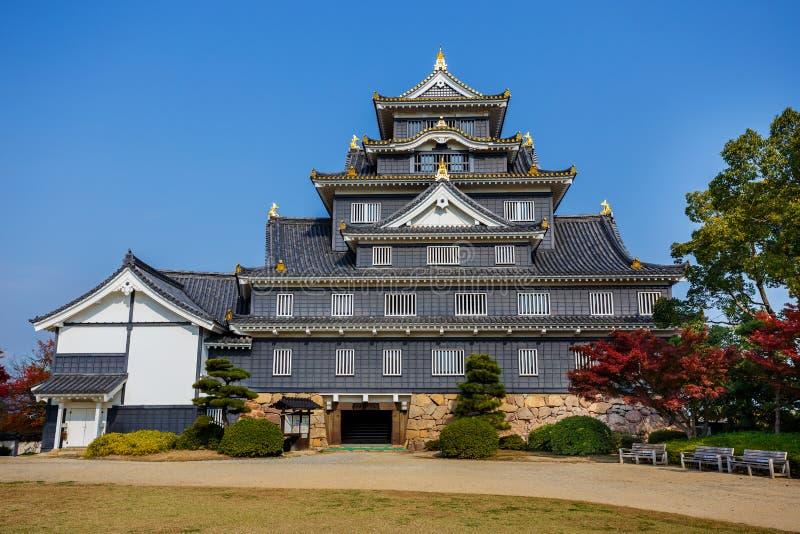 Okayama kasztel lub wrona kasztel w Okayama fotografia royalty free