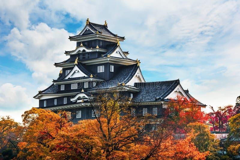 Okayama kasztel lub wrona kasztel w Okayama zdjęcia stock