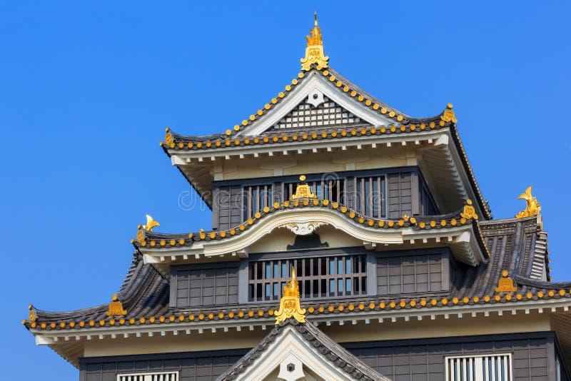 Okayama kasztel lub wrona kasztel w Okayama zdjęcie royalty free