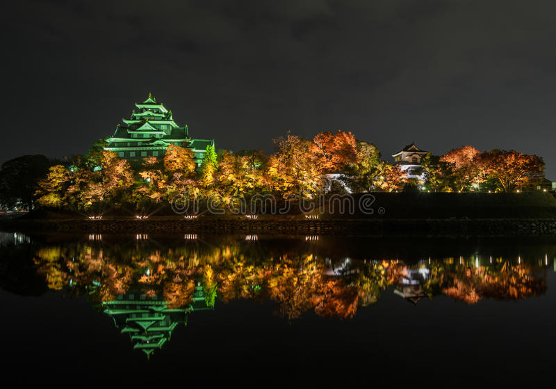 Okayama kasztel lub wrona kasztel w Okayama, Japonia zdjęcie royalty free