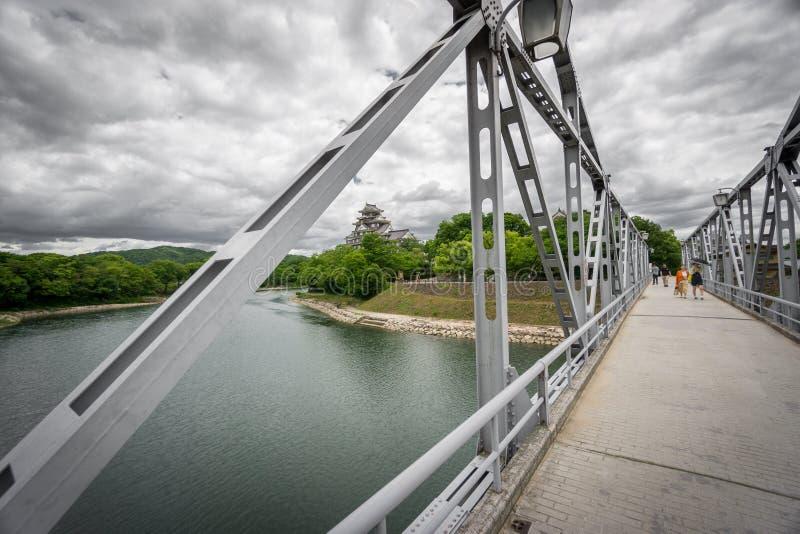 Okayama kasztel, wrony żelazo lub kasztel most i, Okayama zdjęcia royalty free