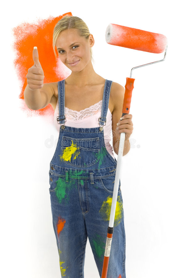Download Okey dokey stock image. Image of dungarees, painter, glad - 2502283
