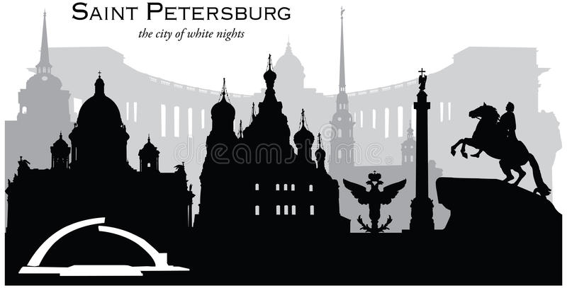 okhtinsky petersburg russia för bro saint stock illustrationer