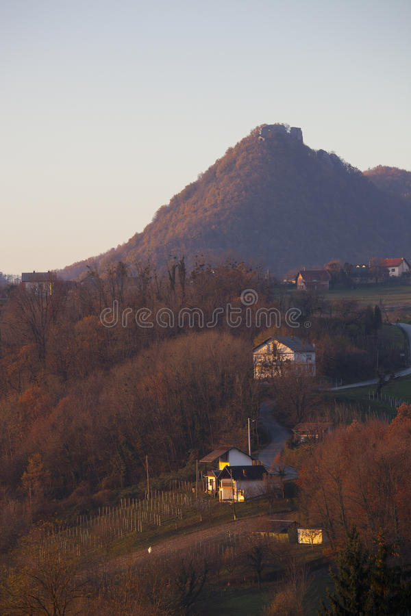 Okic old city on a hill royalty free stock photography