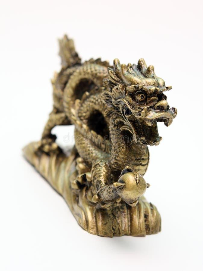 Okimono, netsuke. Dragon stock photos