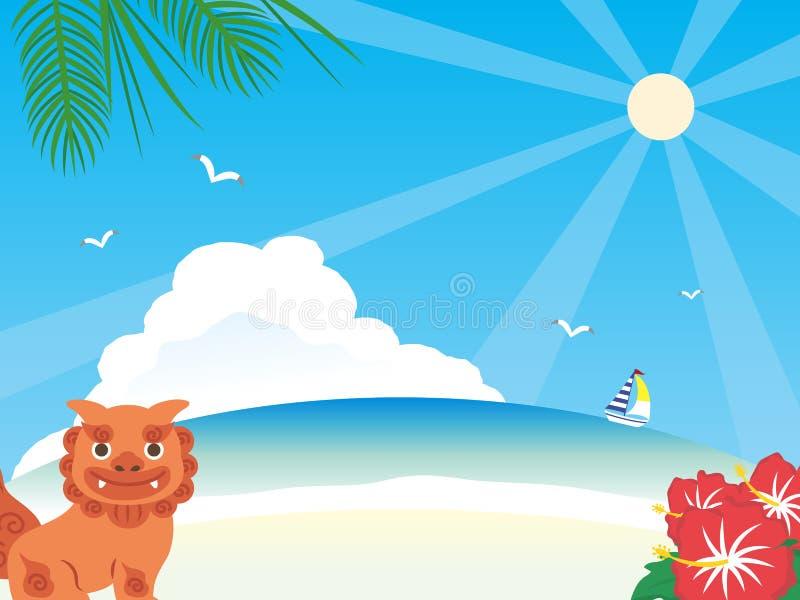 Okinawa background1 vector illustration