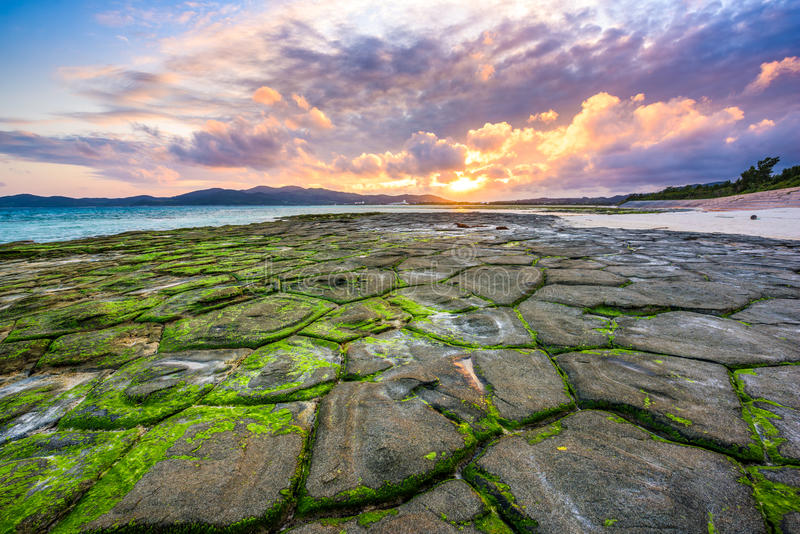 Okinawa Beach stock afbeeldingen