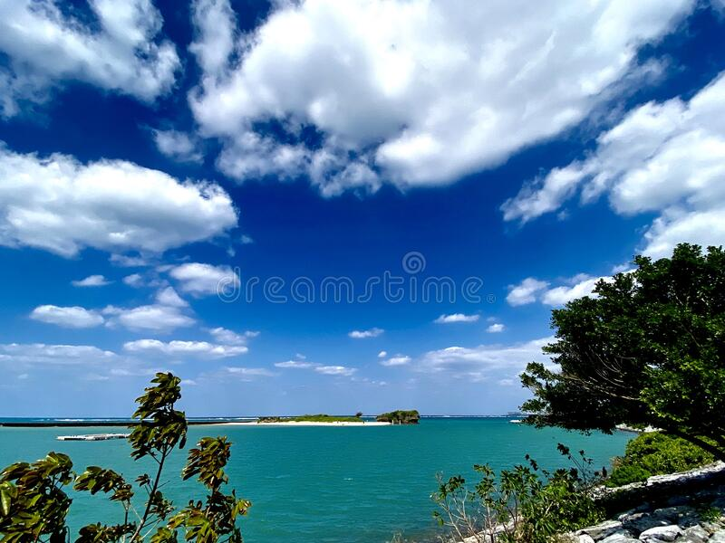 Okinawa beach. Es clean water landscape royalty free stock photography