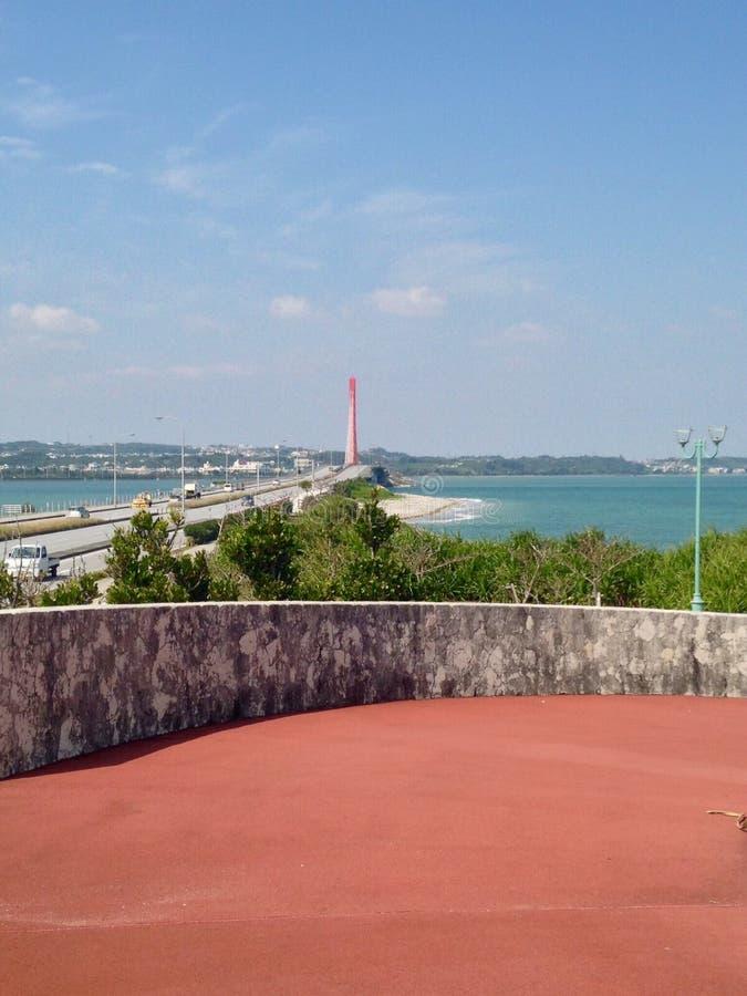 Okinawa Bridge foto de stock royalty free