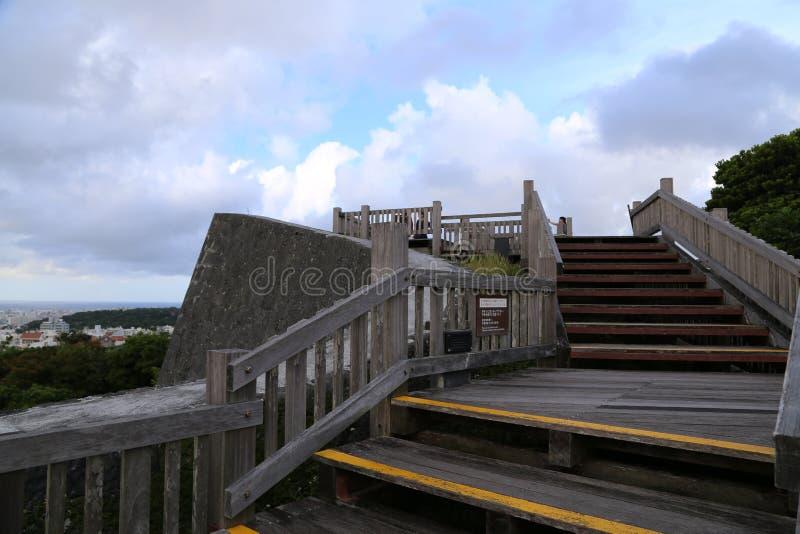 OKINAWA - 8 DE OCTUBRE: Castillo de Shuri en Okinawa, Japón el 8 de octubre de 2016 fotos de archivo libres de regalías