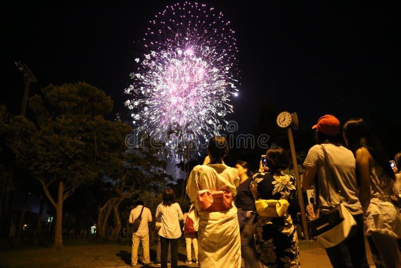 OKINAWA - 8 DE OCTUBRE: Festival del ciudadano de RBC en el parque de Onoyama, Okinawa, Japón el 8 de octubre de 2016 fotografía de archivo libre de regalías