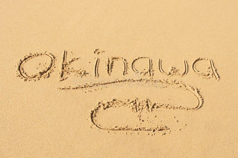 Okinawa im Sand stockbild