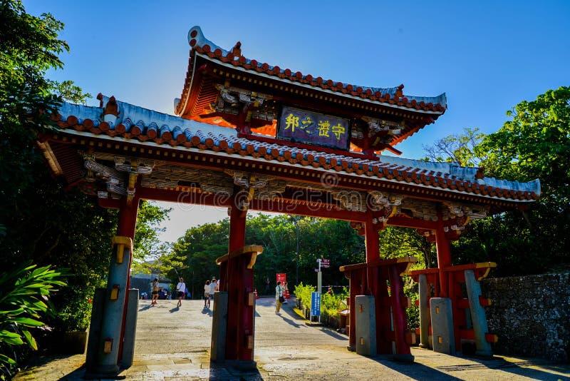 Okinawa Japan på den Shuri slotten fotografering för bildbyråer