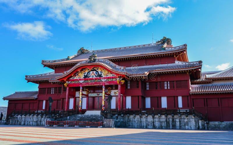 Okinawa Japan på den Shuri slotten arkivbilder