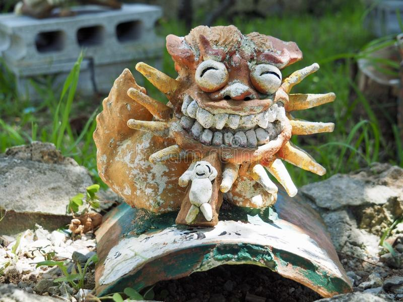 Okinawa Lion Shisa arkivbild