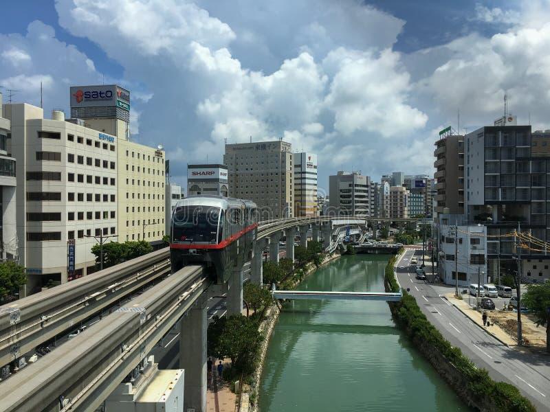 Okinawa Monorail: Yui Rail (Ochtend) royalty-vrije stock foto