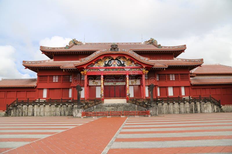 OKINAWA - 8 OTTOBRE: Castello di Shuri in Okinawa, Giappone l'8 ottobre 2016 fotografia stock