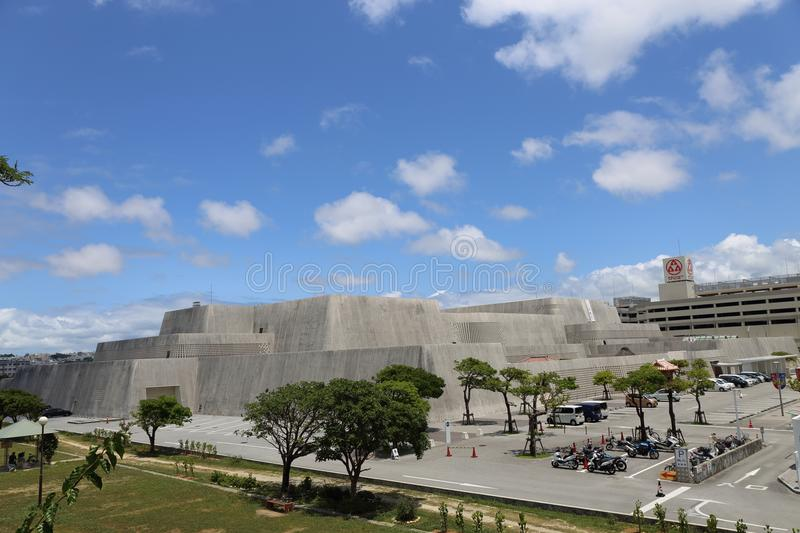 Okinawa Prefectural Museum & Art Museum, Travel in Okinawa, Japan. Photo taken on a bridge. nearby Omoromachi station. and good weather in May royalty free stock photos