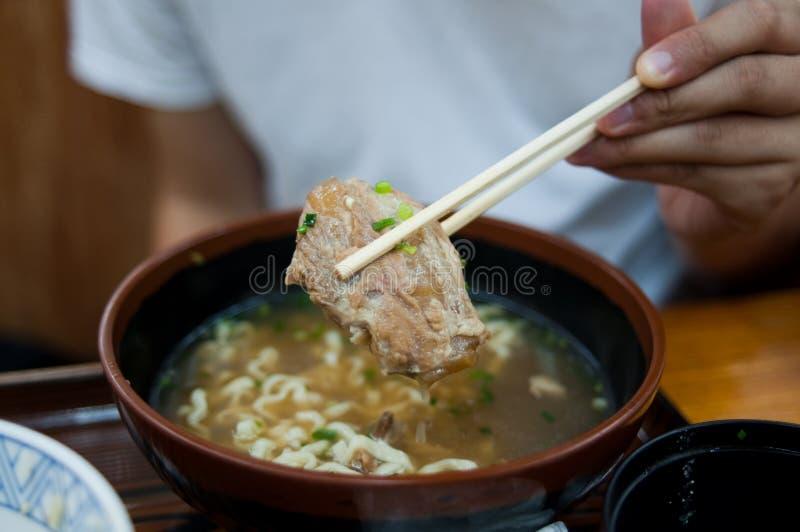 Okinawa Soba imagem de stock