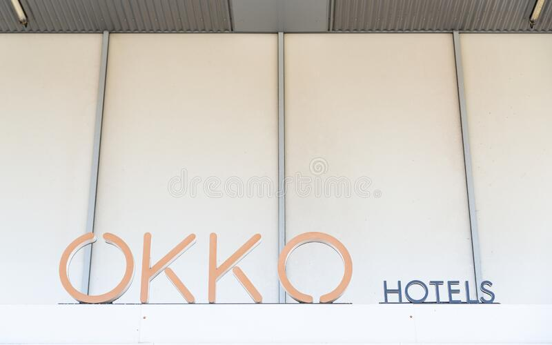 Okko Hotels sign in Bayonne, France stock photos