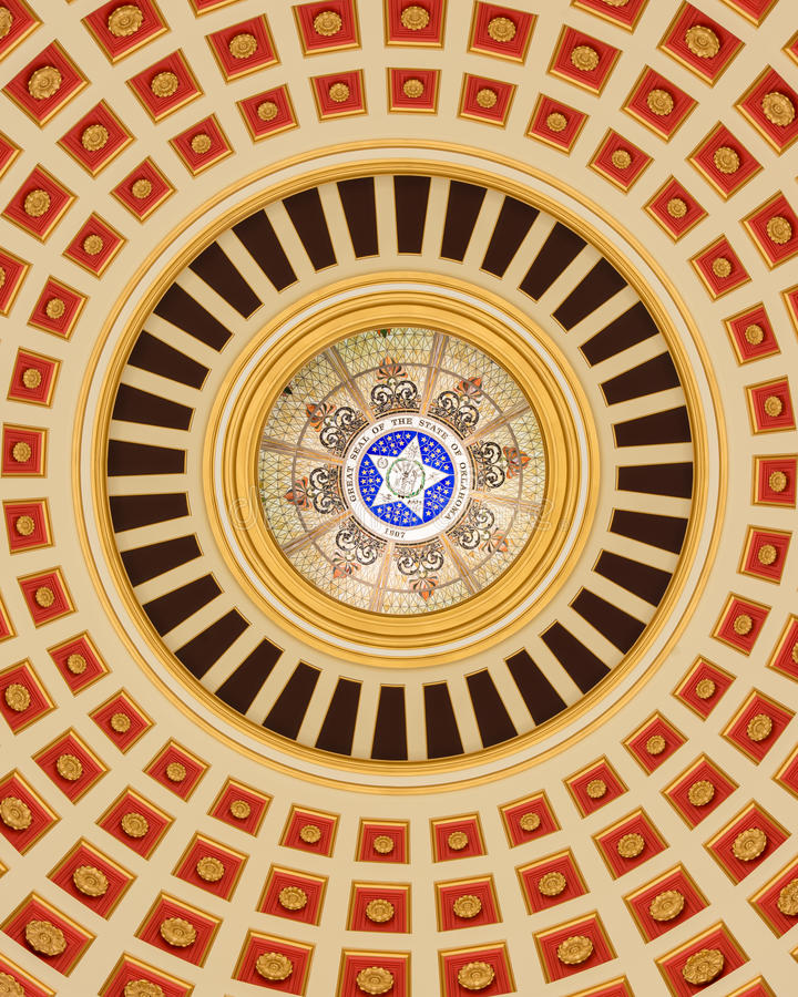 Oklahoma Capitol Dome interior royalty free stock images