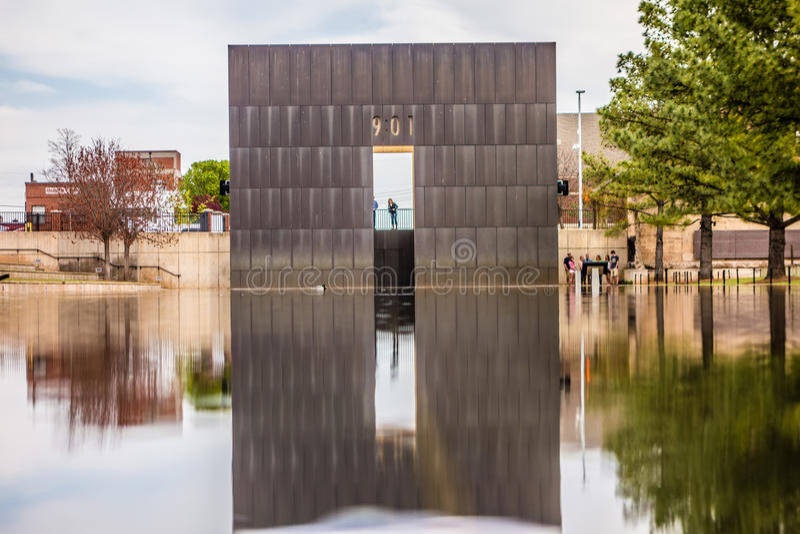 Oklahoma city bombing memorial royalty free stock photos