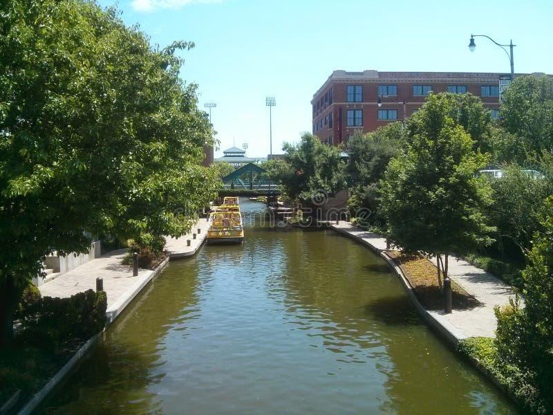 Oklahoma City del canal de Bricktown fotos de archivo libres de regalías