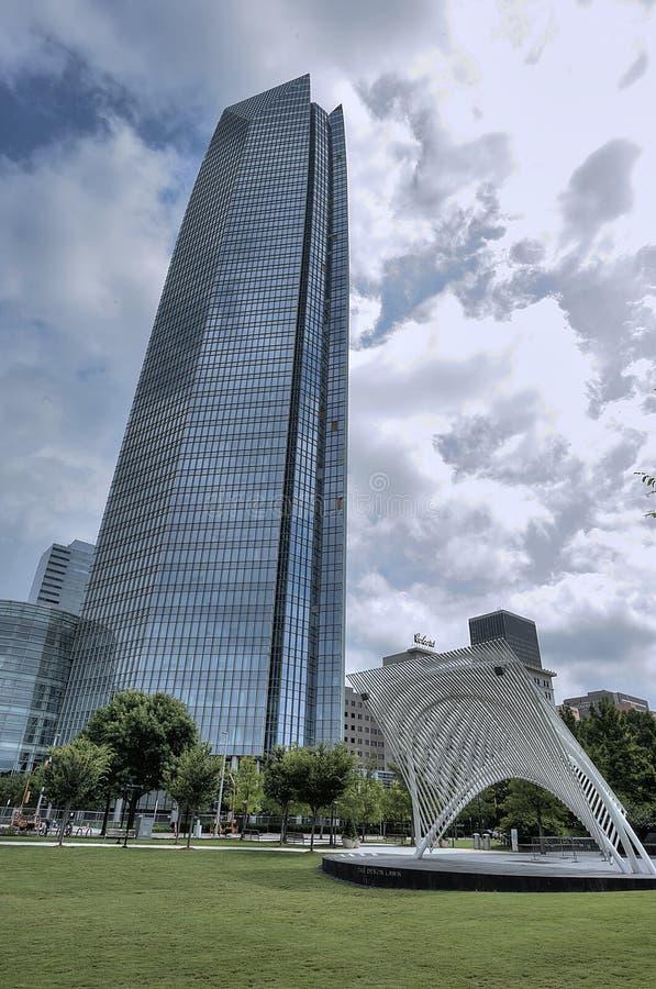 Oklahoma City Devon torn och Devon etapp arkivbild