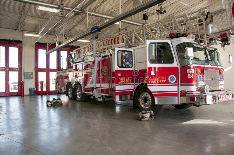 Oklahoma city Fire Engine royalty free stock images