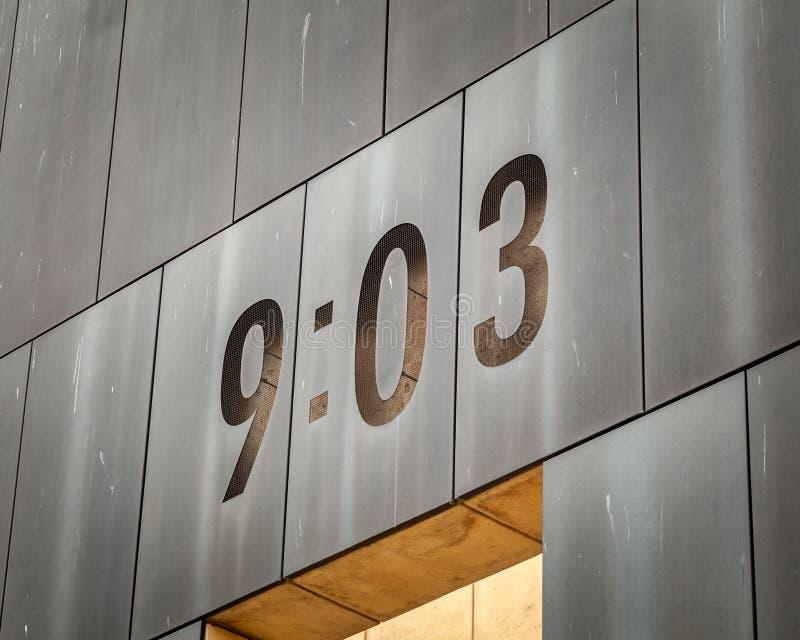Oklahoma City National Bombing memorial Closeup stock images